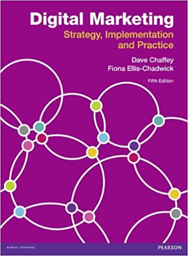 Digital Marketing Strategy Implementation & Practice Dave Chaffey & Fiona Ellis