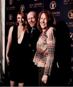 Ron tweeted this photo of himself with daughter Bryce and wife Cheryl at the DGA Honors festivities. Follow Ron on Twitter @RealRonHoward.