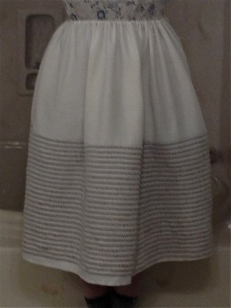 Corded petticoat finished.