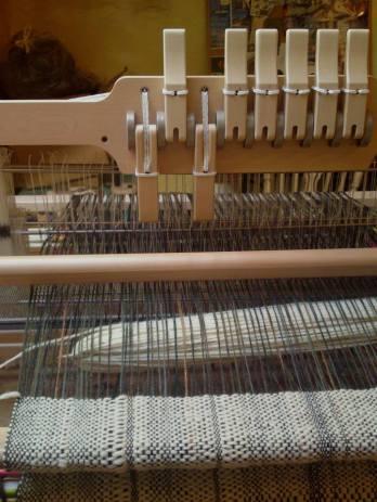 8-shaft Ashford folding table (or treadle) loom.