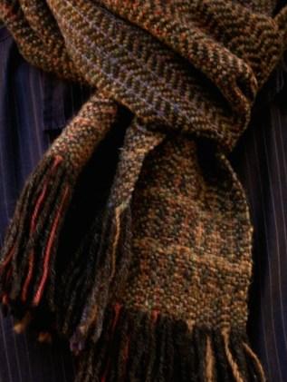 Bracken scarf only close-up