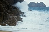 Porthcurno wave crash
