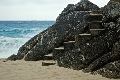 Steps to the Minack Theatre