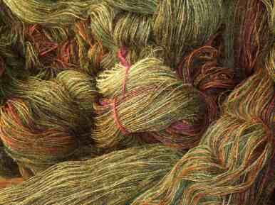 Saddle blanket tweed warp chain