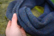 Deep blue sea cowl hand detail