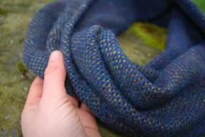 Deep blue sea cowl hand detail