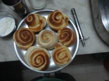 rolls ready to be glazed