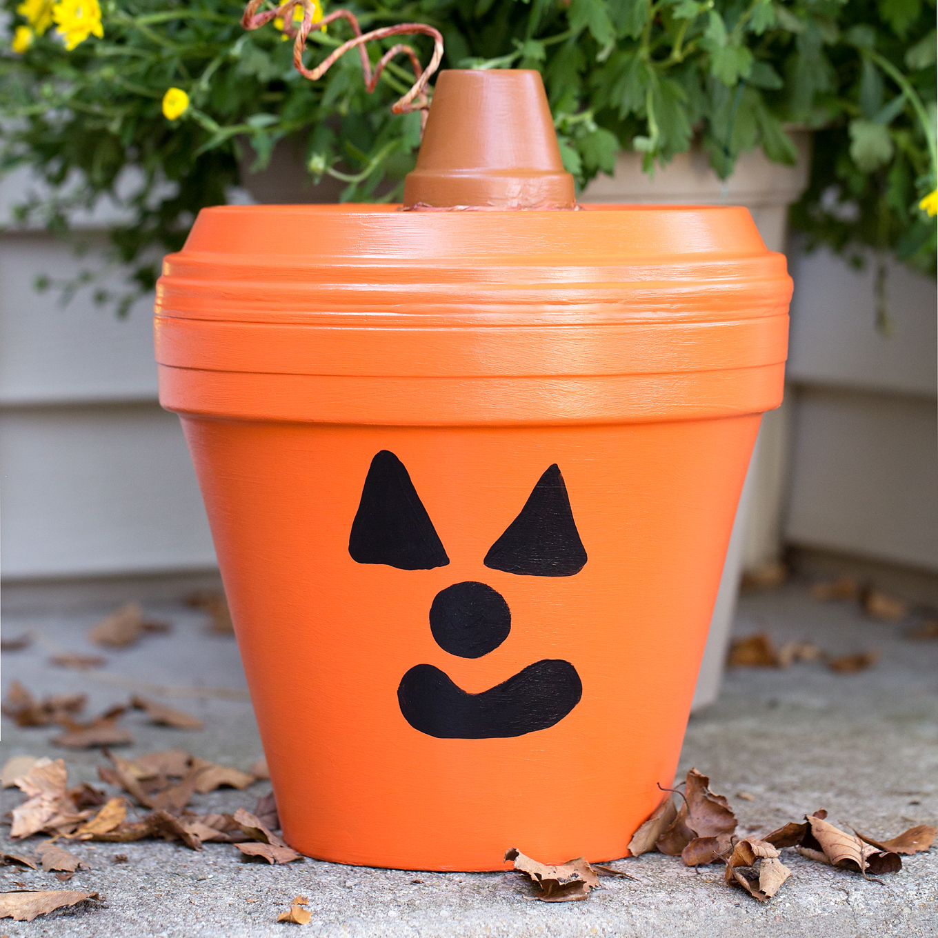 Diy Halloween Crafts Make A Jack O Lantern Out Of A Pot