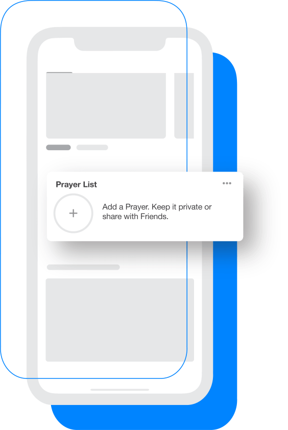Prayer List in Home Feed