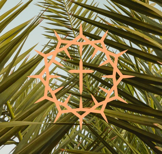 Palm Branches with Easter symbol
