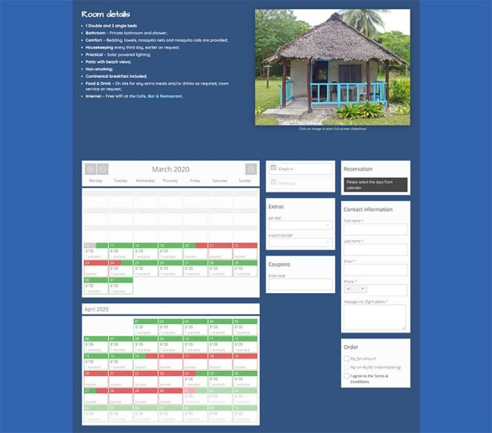 LEBB accommodation booking page