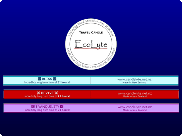 Created for Candlelyte in 2007 as candle labels;