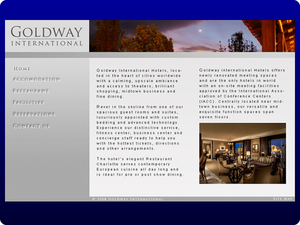 Alternative mock-up for a Client side Website design project at Natcoll;
