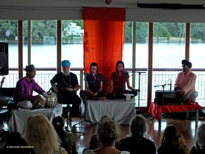 Classical Indian music performance at the Blockhouse Bay Boat Club