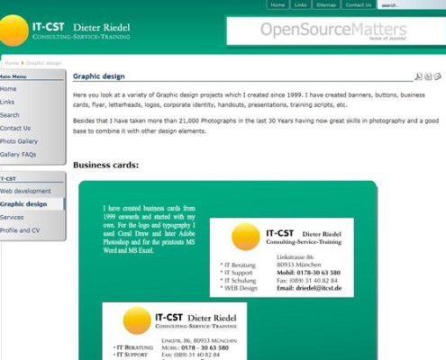 IT-CST 1.0 Graphic design page;