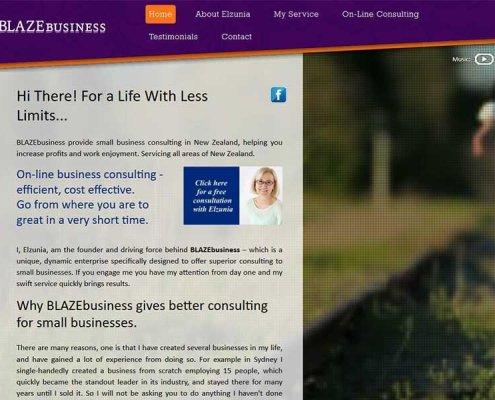 BLAZEbusiness home page