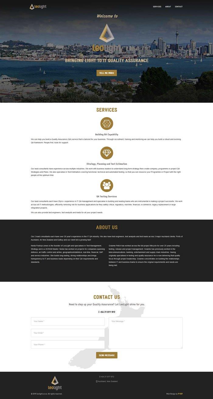 leolight website screenshot
