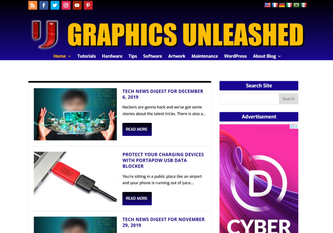 Graphics Unleashed Web Site