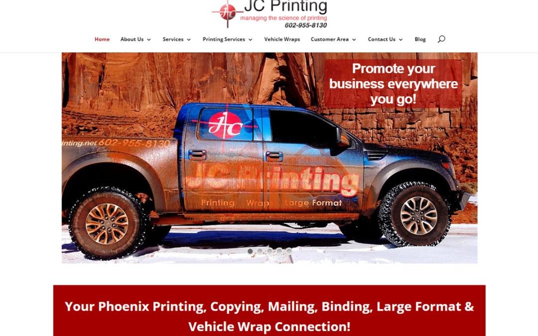 JC Printing Web Site