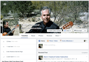 Alan's Classical Guitar Facebook Page