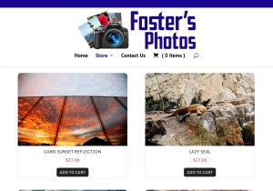 Foster's Photos E-Commerce Store