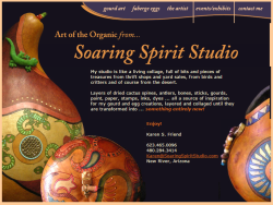 Soaring Spirit Studios Home Page Before