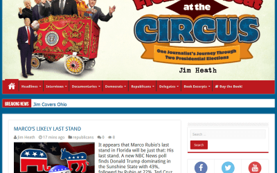 Front Row Seat at the Circus Web and Blog Makeover
