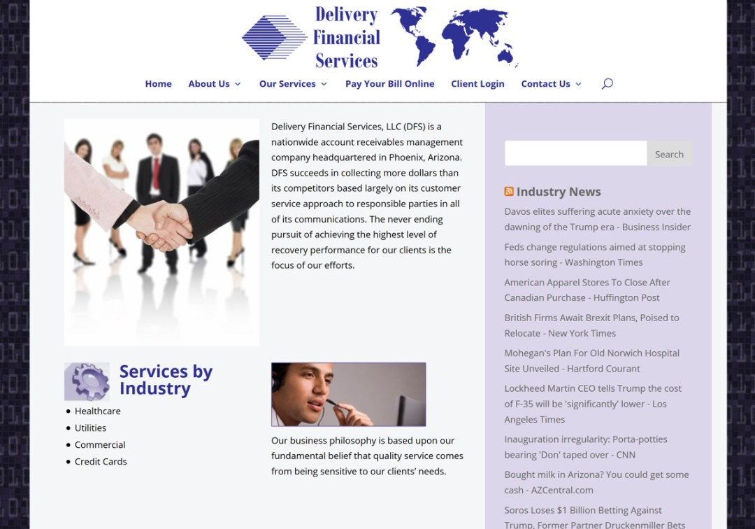 Delivery Financial Services Web Site