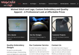 Wicked Stitch Web Site