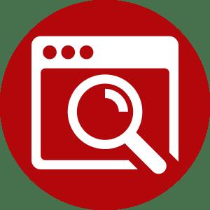 Monitor Search Errors Icon
