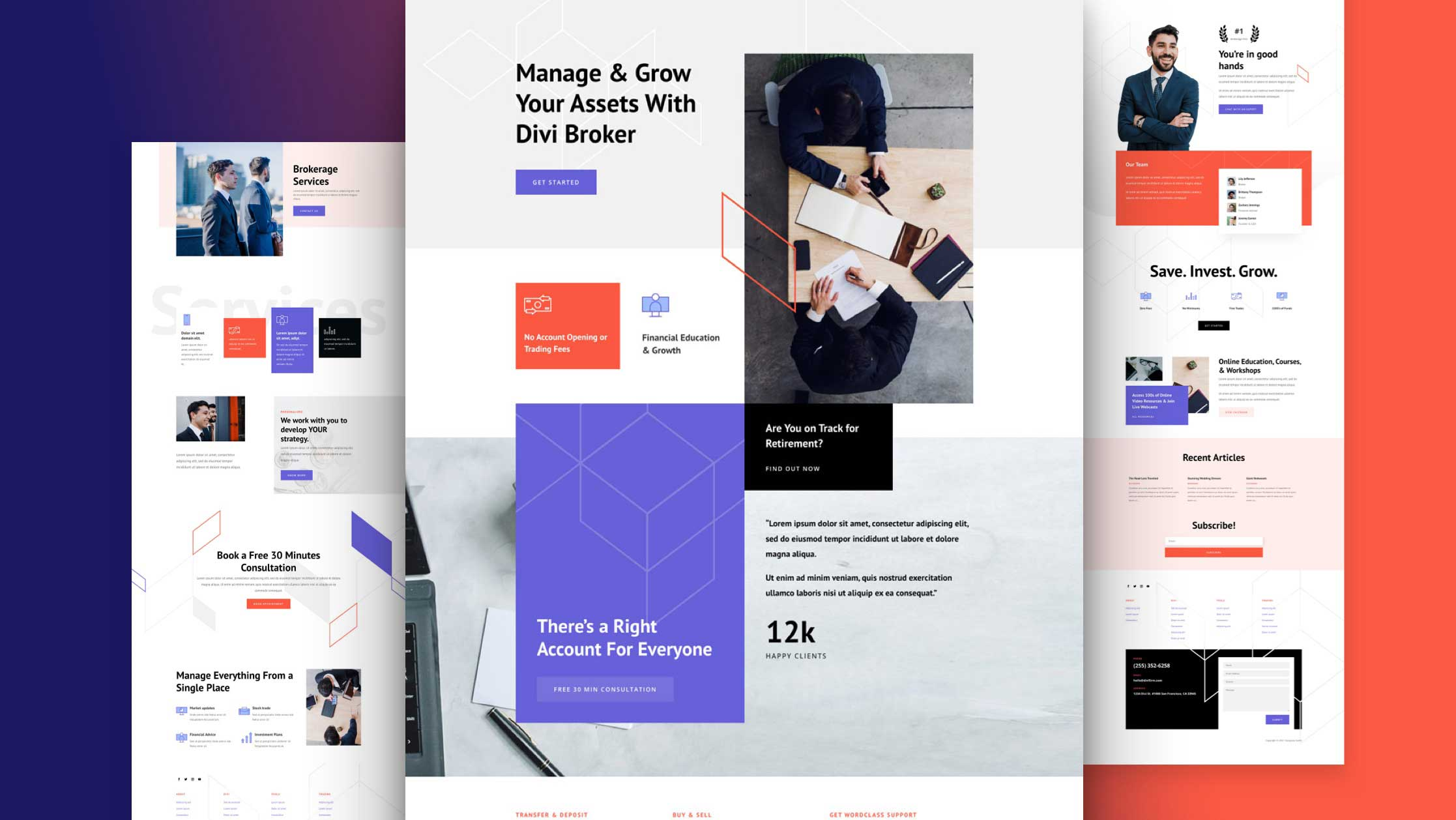 Get a FREE Brokerage Firm Layout Pack for Divi