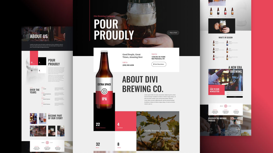 Get a FREE Brewery Layout Pack for Divi