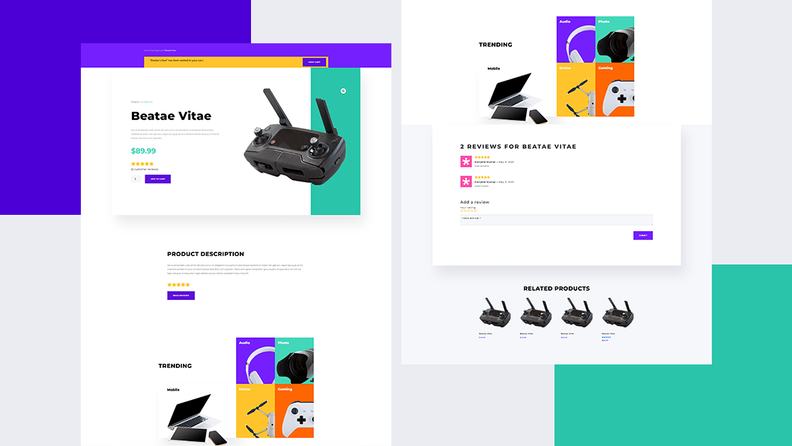Download a FREE Product Page Template for Divi's Electronics Store Layout Pack