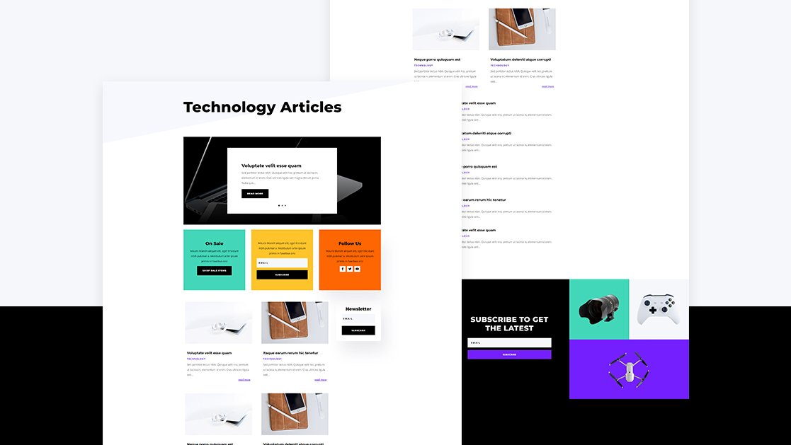 Download a FREE Category Page Template for Divi's Electronics Store Layout Pack