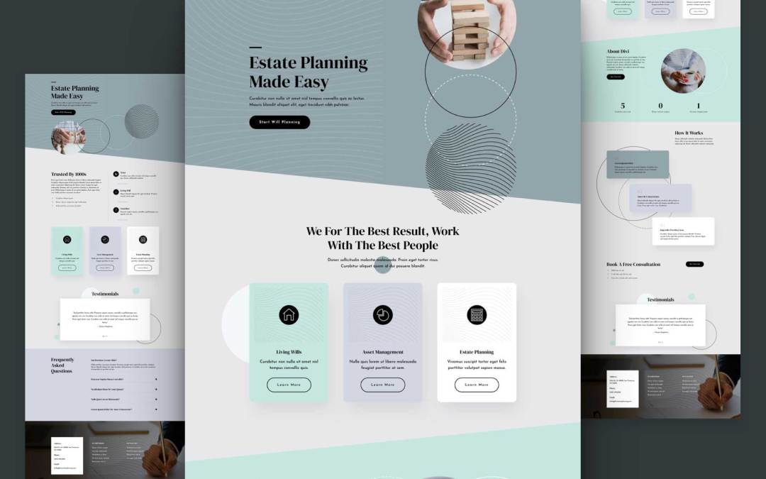 Get a FREE Estate Planning Layout Pack for Divi