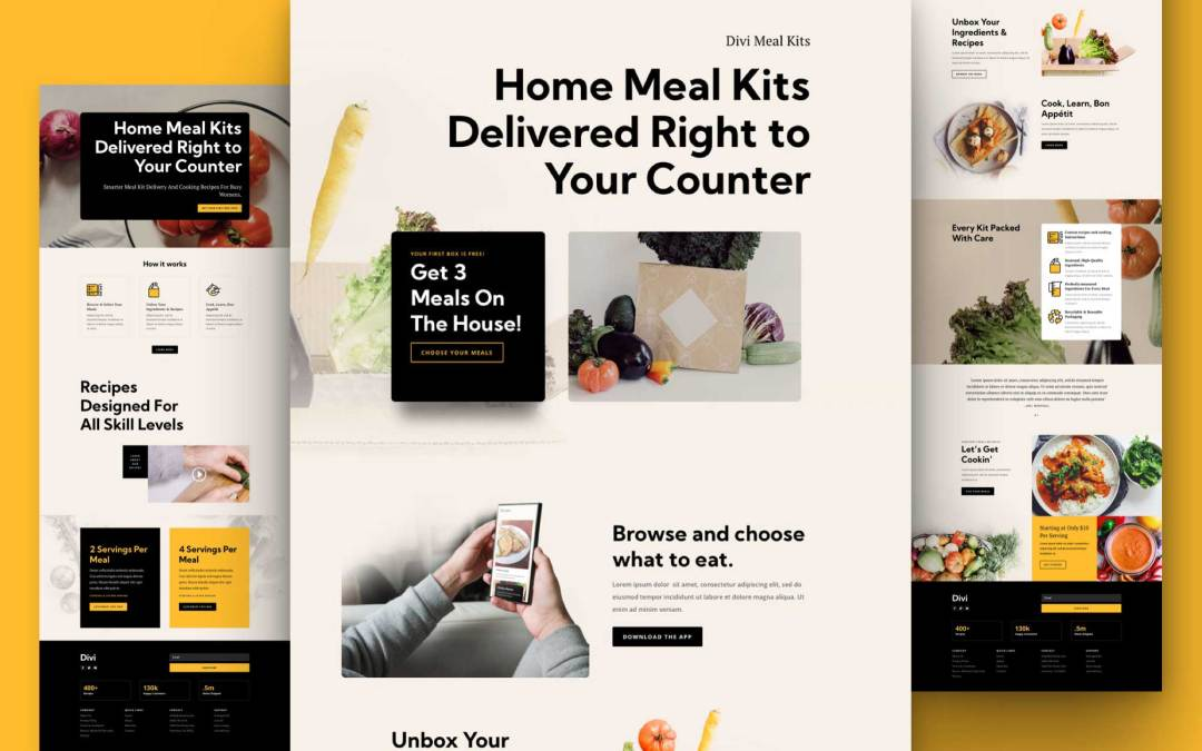 Get a FREE Meal Kit Layout Pack for Divi