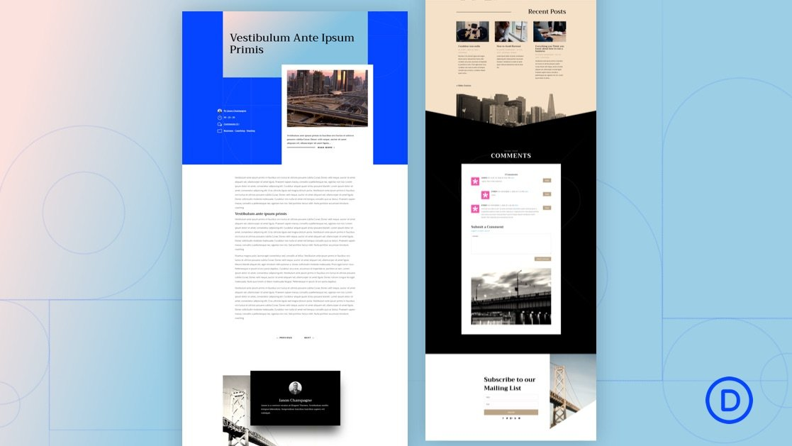 Download a FREE Blog Post Template for Divi's Engineering Firm Layout Pack
