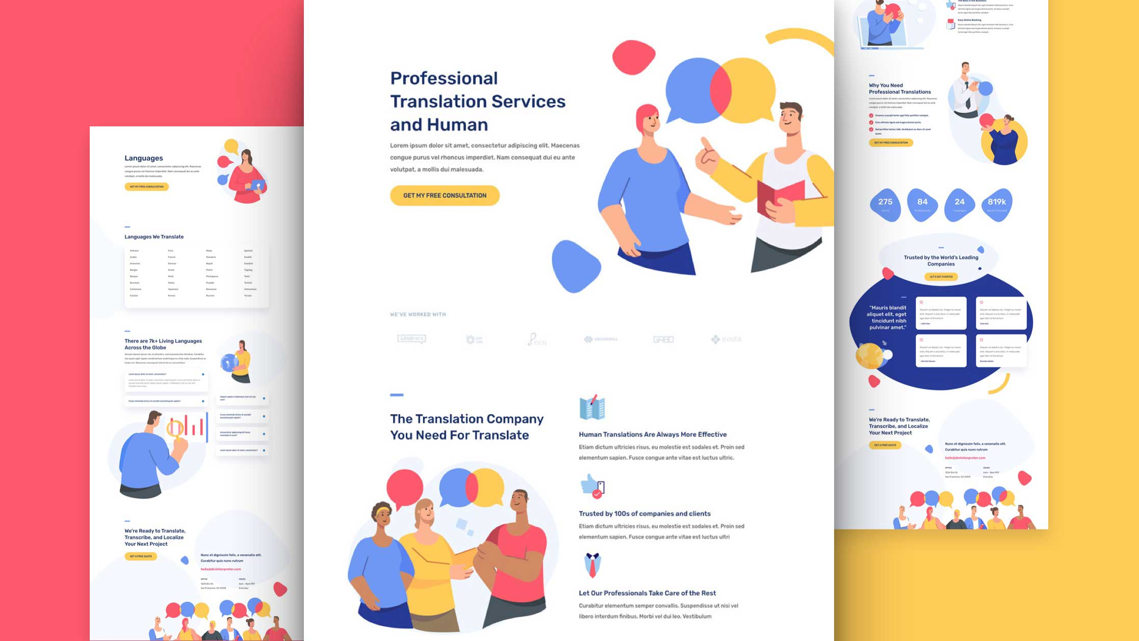 Get a FREE Interpreter Layout Pack for Divi