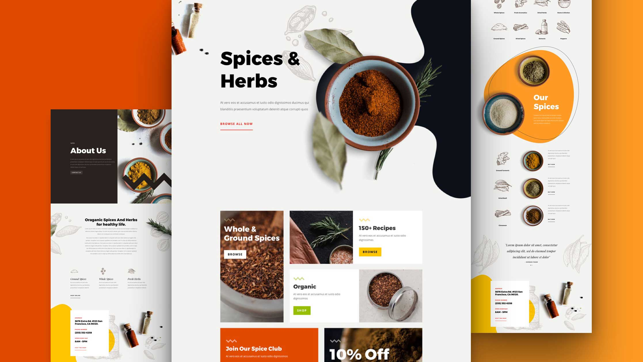 Get a FREE Spice Shop Layout Pack for Divi
