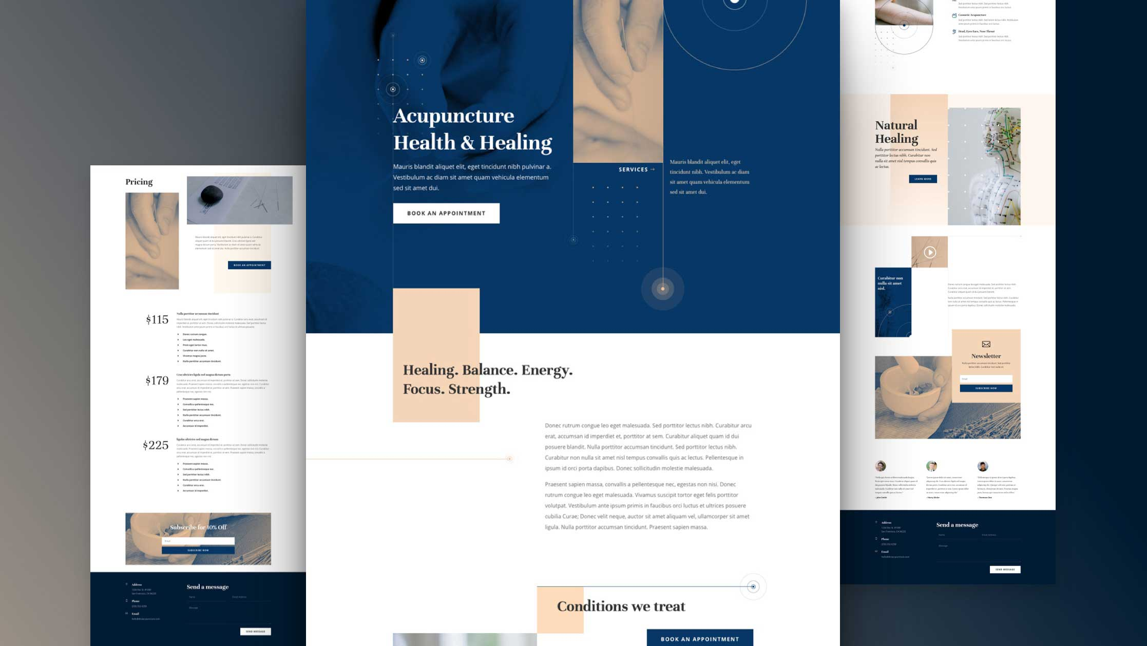 Get a FREE Acupuncture Layout Pack for Divi