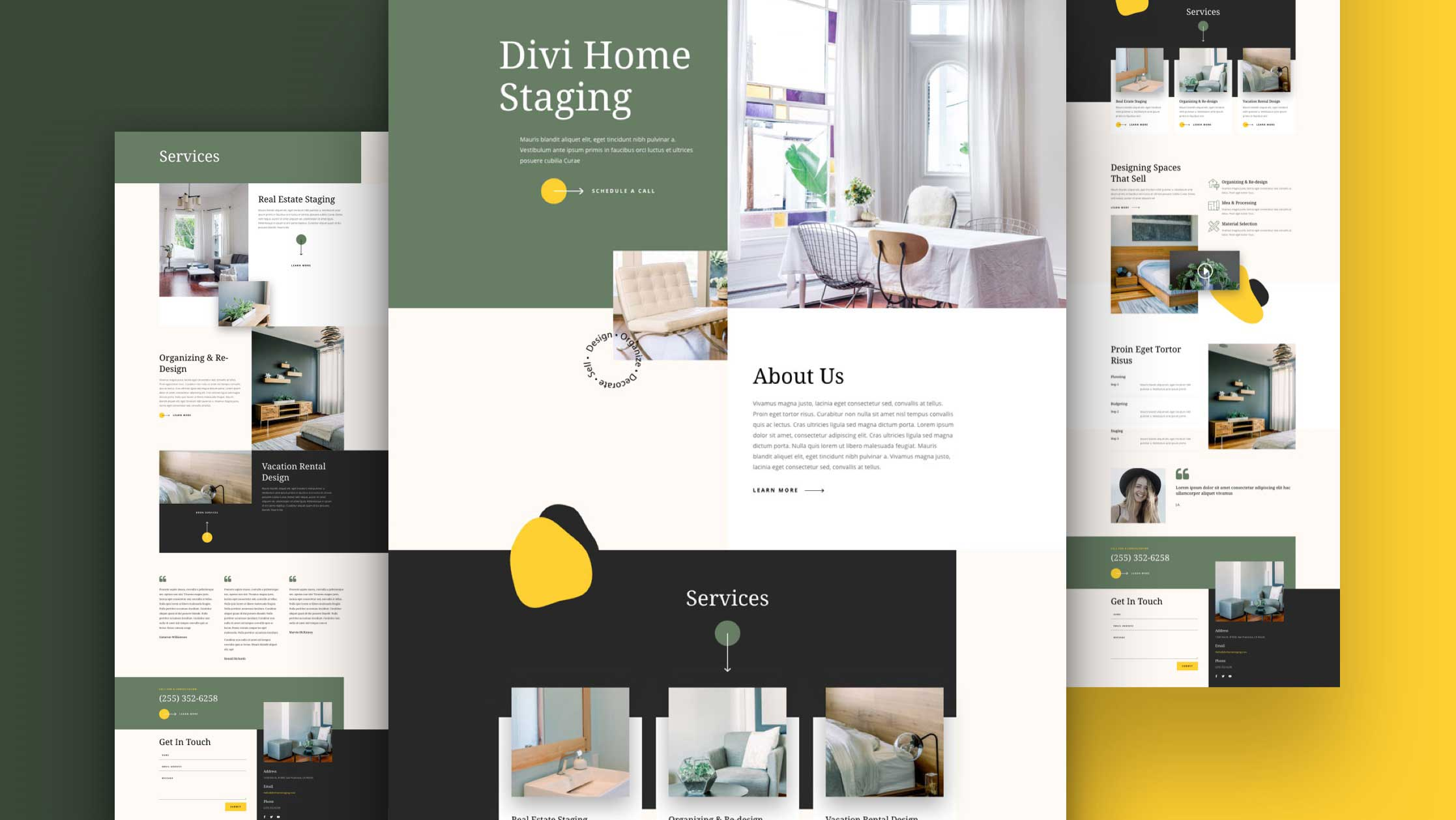 Get a FREE Home Staging Layout Pack for Divi