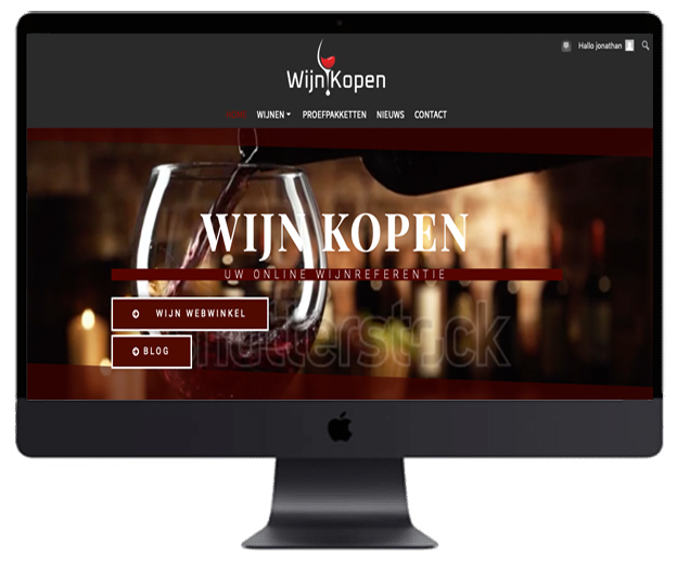 Webdesigner Antwerpen wijn kopen