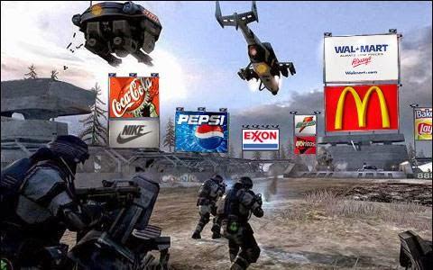 La publicité dans les jeux video !