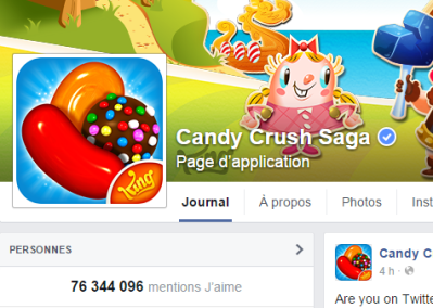 j'aime des top pages N°18 - CANDY CRUSH SAGA