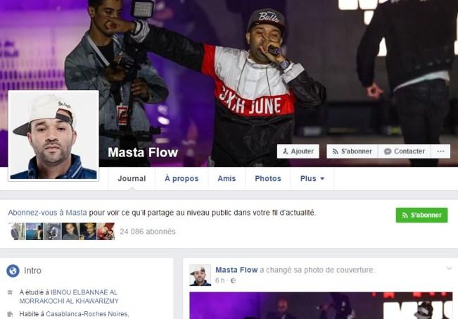 Compte Facebook de Masta Flow