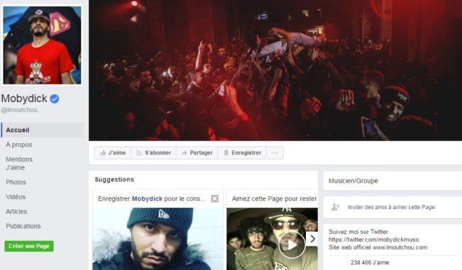 Page Facebook Chaîne Youtube de Mobydick Alias. Lmoutchou