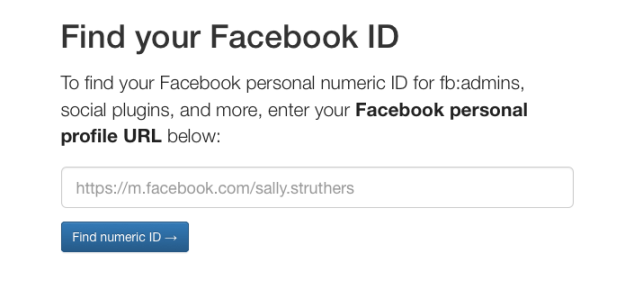 Find your Facebook ID