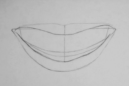 kak-narisovat-ulybku-2 Как нарисовать улыбку у основания. Как нарисовать улыбку карандашом поэтапно? Как красиво нарисовать губы в улыбке? Как нарисовать улыбку