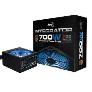 Aerocool Integrator 700W RGB PSU 12cm Black Fan