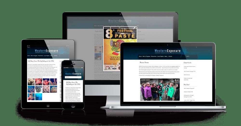Responsive website for Western Exposure